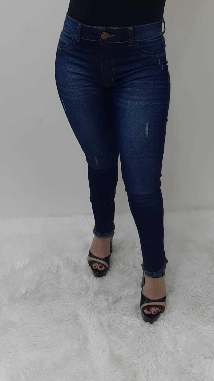 Calça Jeans Feminina Skynny Desfiada com Elastano REF: 1178 | Kit com 12 Peças