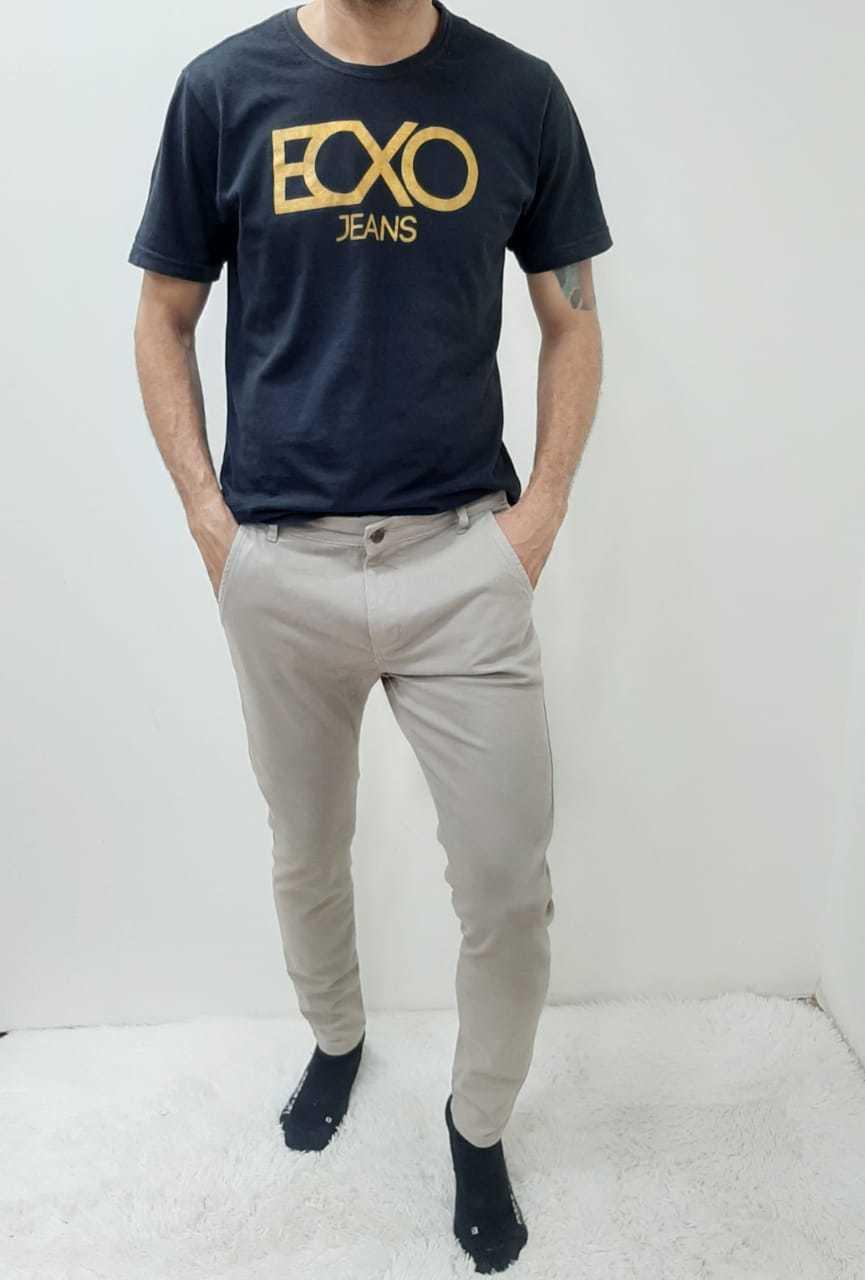 Calça Masculina Sarja Bolso Embutido com Elastano REF 9048