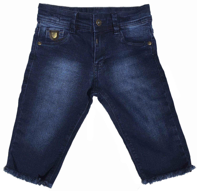Bermuda Jeans com leve desfiado na barra [124]