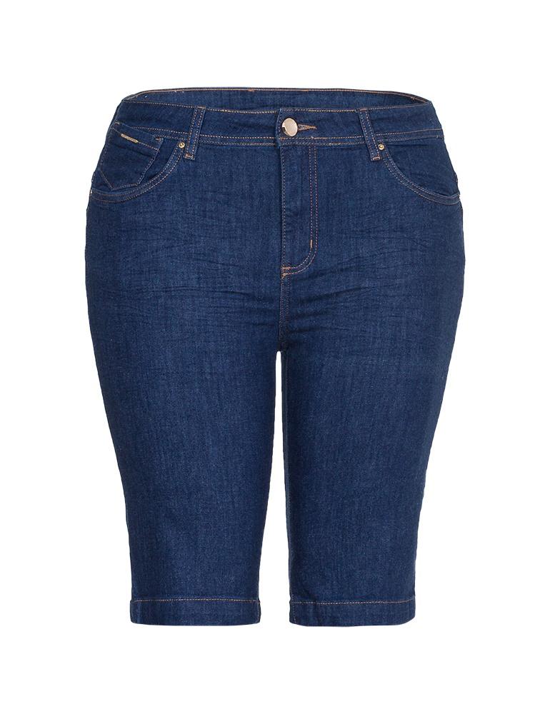 Bermuda Jeans Feminina Fact Jeans - Plus Size Ref. 03990
