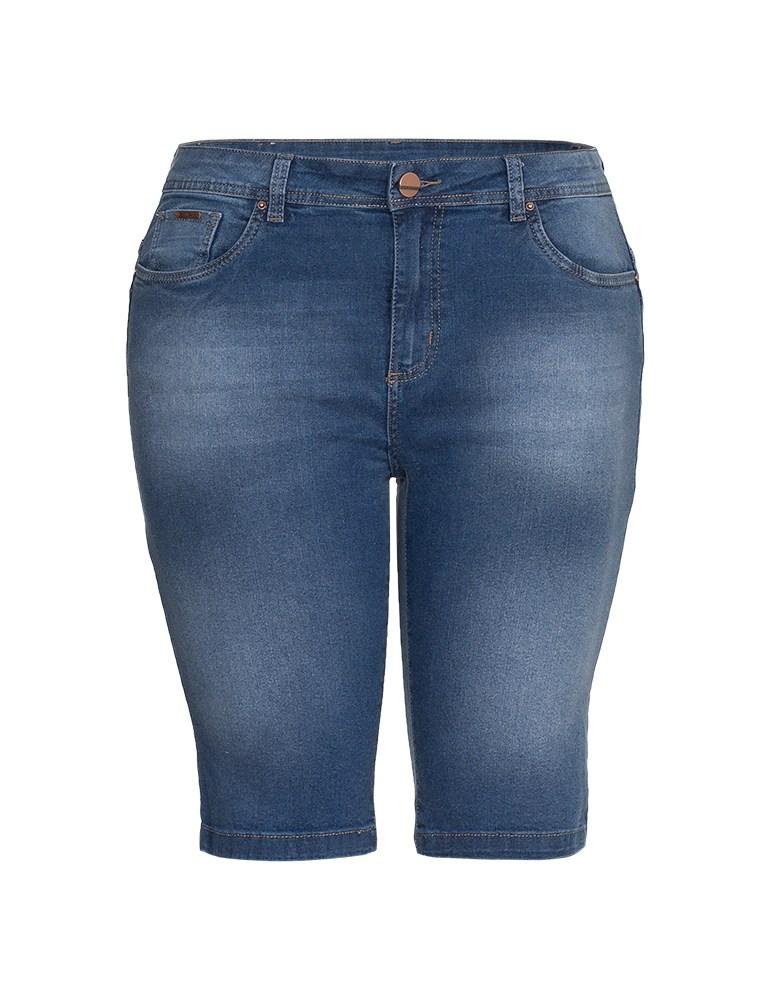 Bermuda Jeans Feminina Fact Jeans - Plus Size Ref. 04080