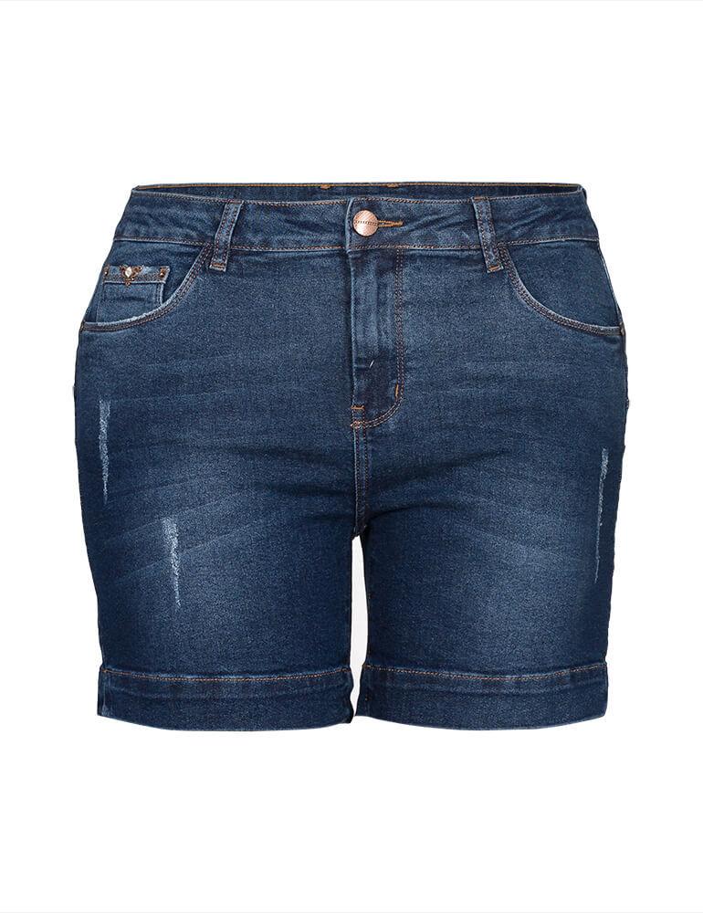 Bermuda Jeans Feminina Meia Coxa Fact Jeans Plus Size ref. 03905