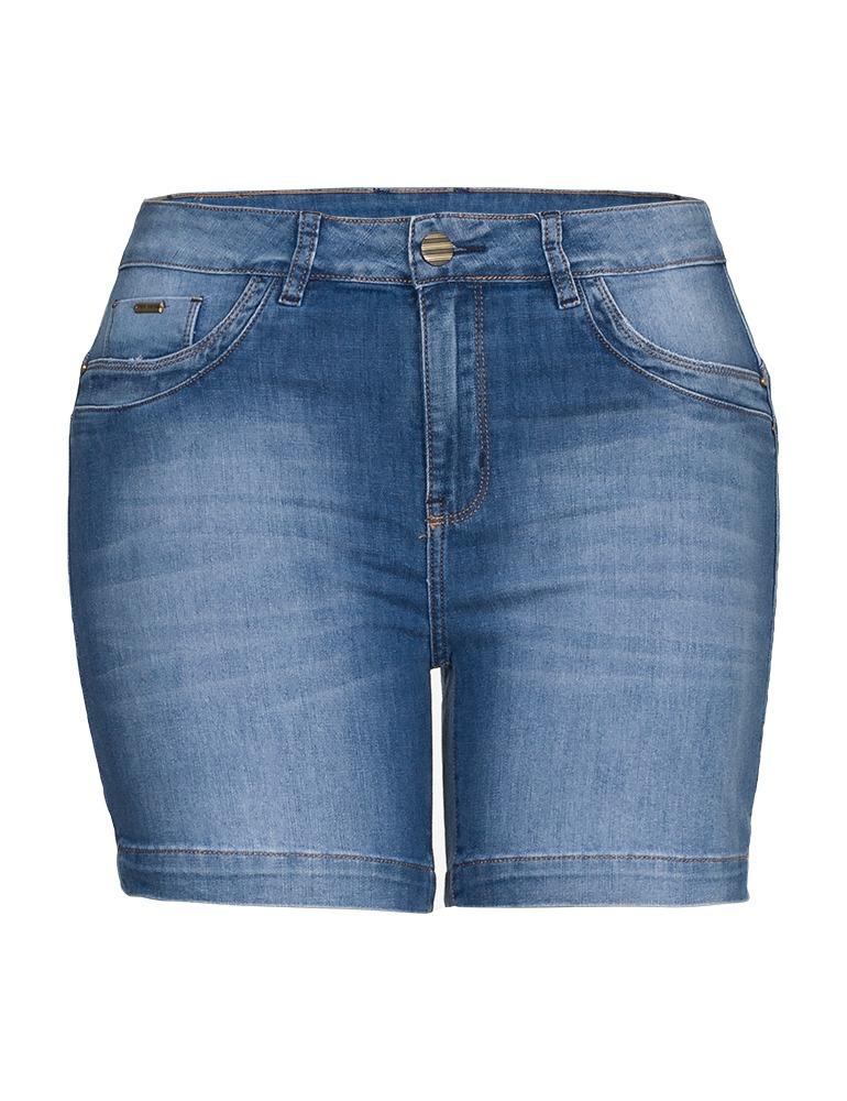 Bermuda Jeans Feminina Meia Coxa Fact Jeans - Plus Size Ref. 04034