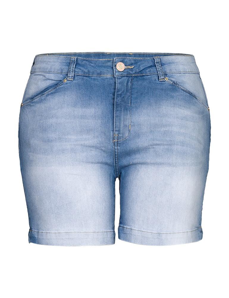 Bermuda Jeans Feminina Meia Coxa Fact Jeans - Plus Size Ref. 04049