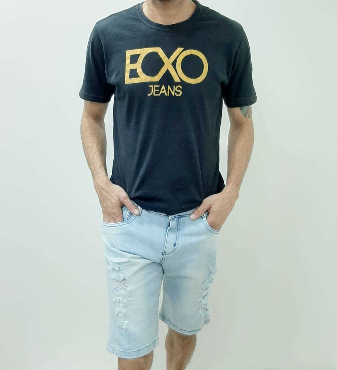 Bermuda Masculina Adulto Jeans com Lycra Rasgada RF 5016 | Kit com 14 Peças