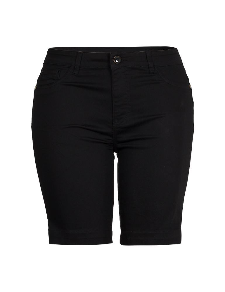 Bermuda Sarja Feminina Fact Jeans - Plus Size Ref. 04078