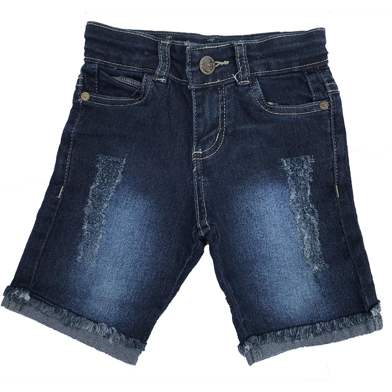 Bermudinha Jeans com barra dobrada e desfiada [318]