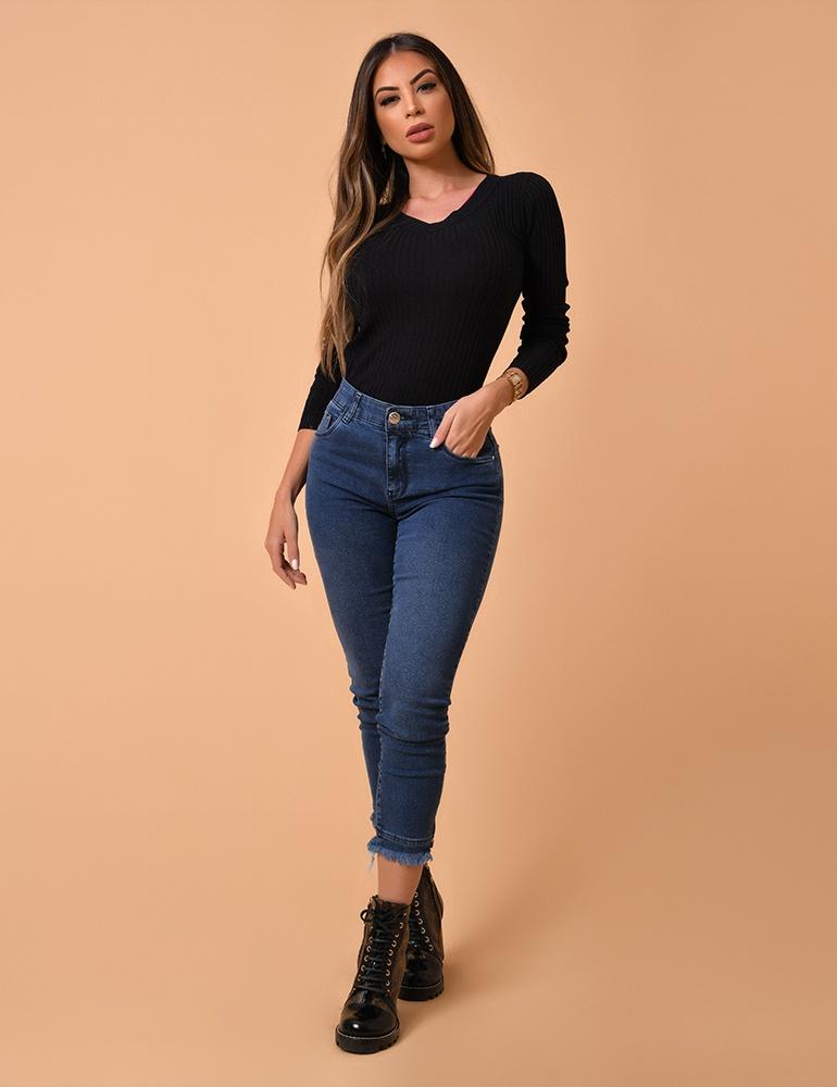 Calça Jeans Cigarrete Feminina Fact Jeans Ref. 04082