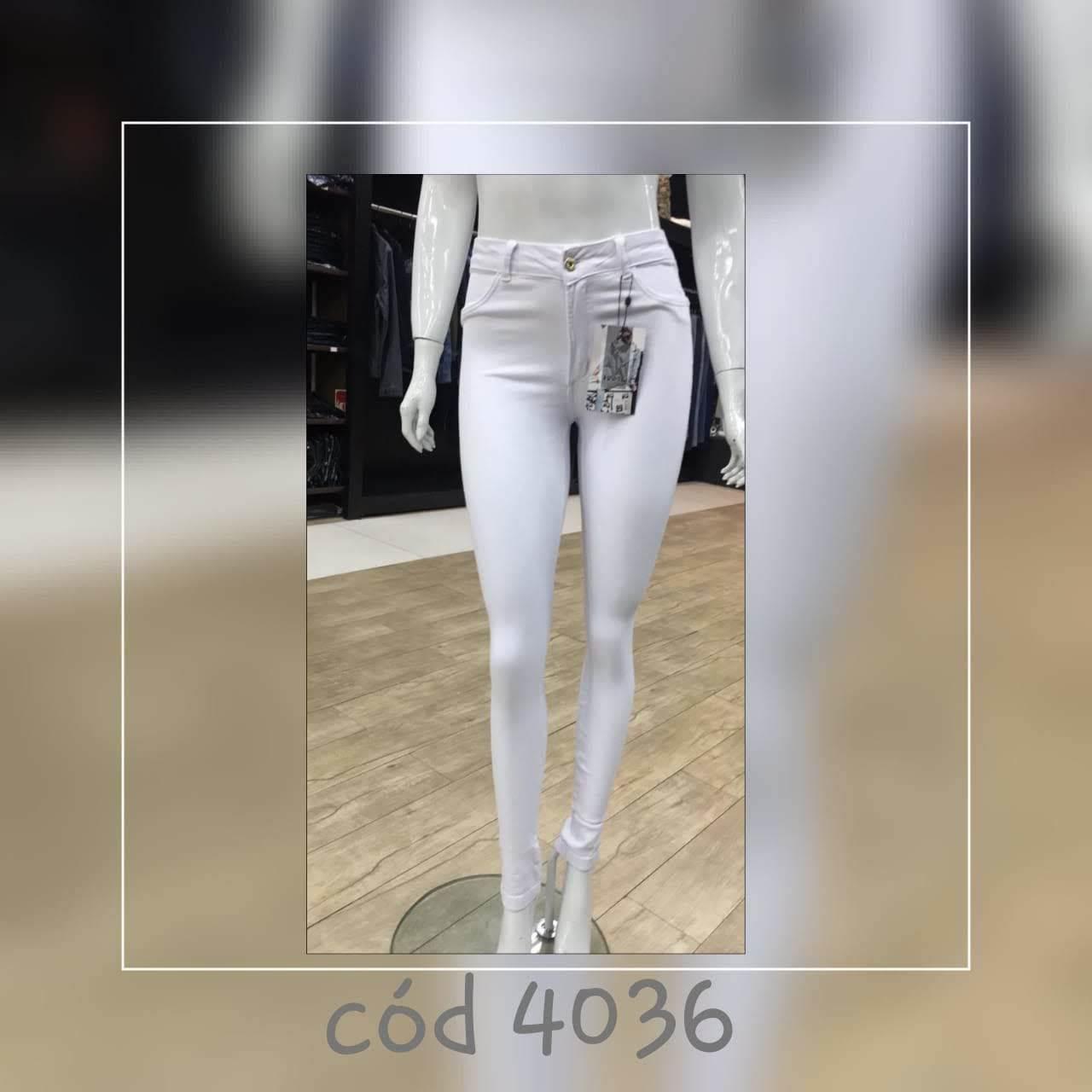Calça Jeans Feminina Super Skinny Branca (4036)