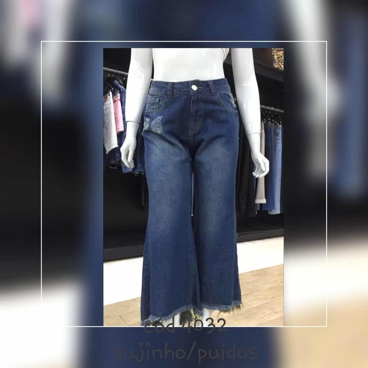 Calça Jeans Pantacourt Feminina (4032)