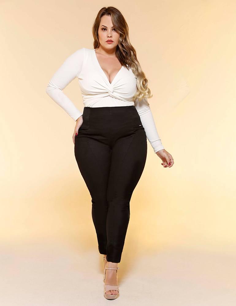 Calça Legging Malha Feminina Fact Jeans Plus Size ref. 04397