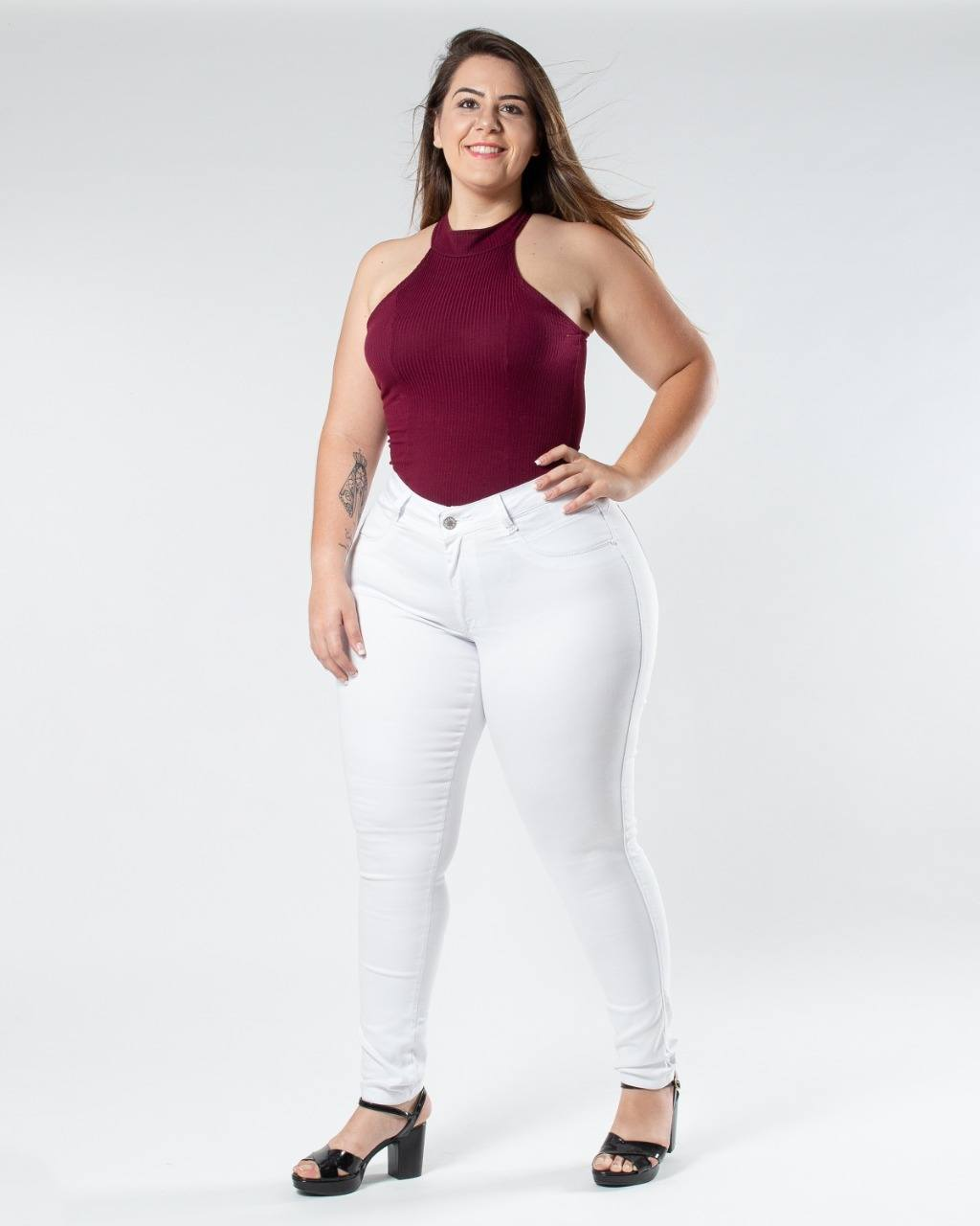 Calça Mobi Branca Plus Size ref. 70047