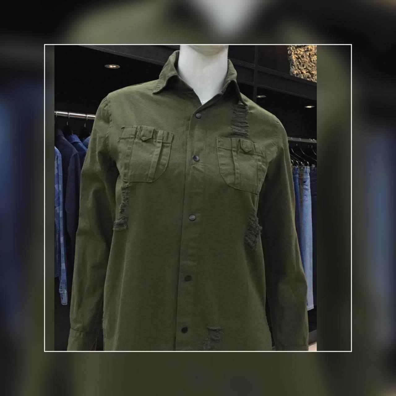 Camisa  Feminina Estruturada Sarja Militar (2003)