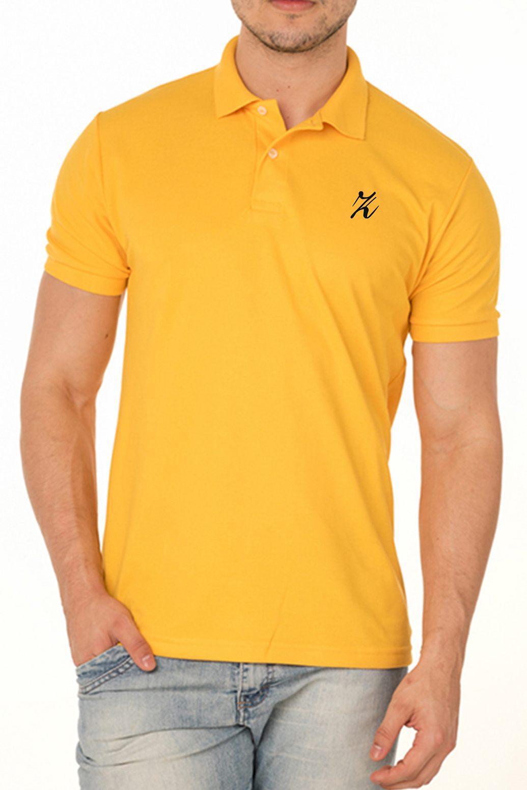 Camisa Polo Amarelo Ouro