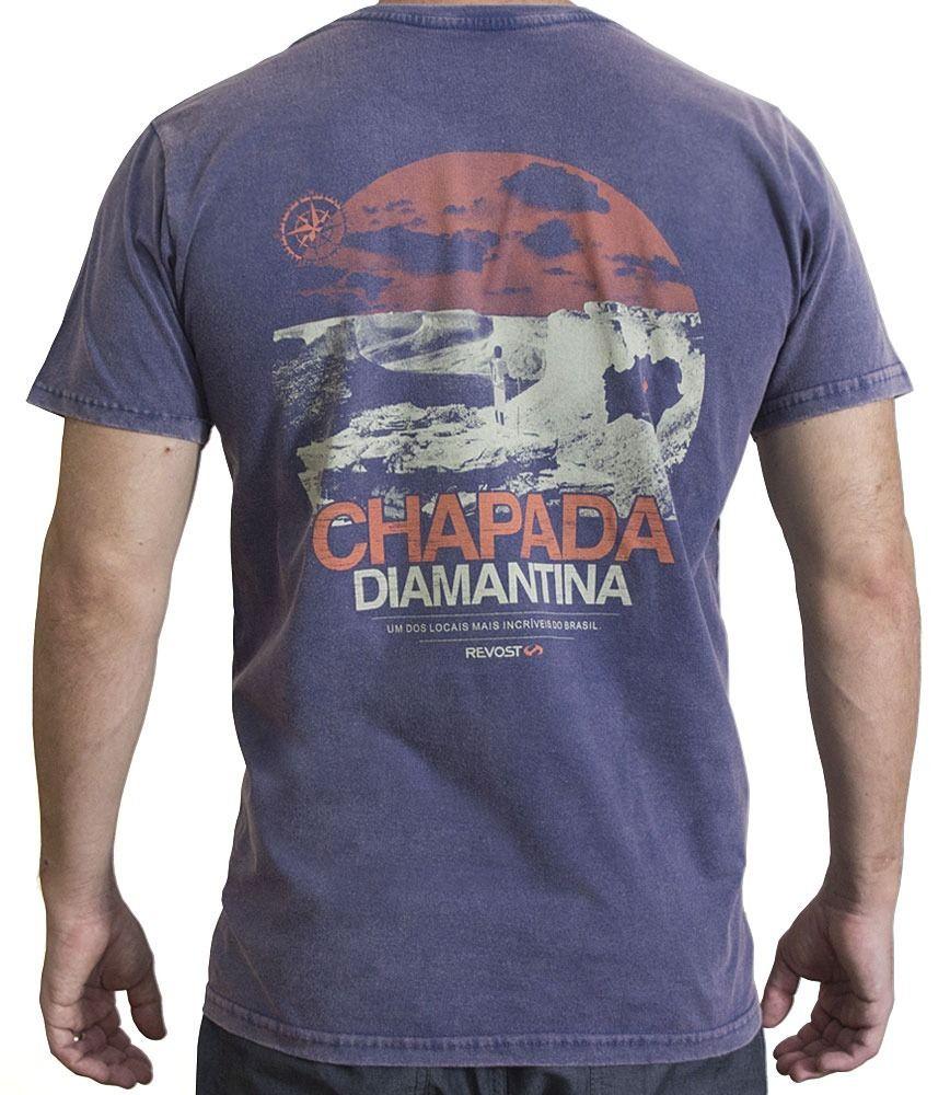 Camiseta Masculina Chapada Diamantina - Azul