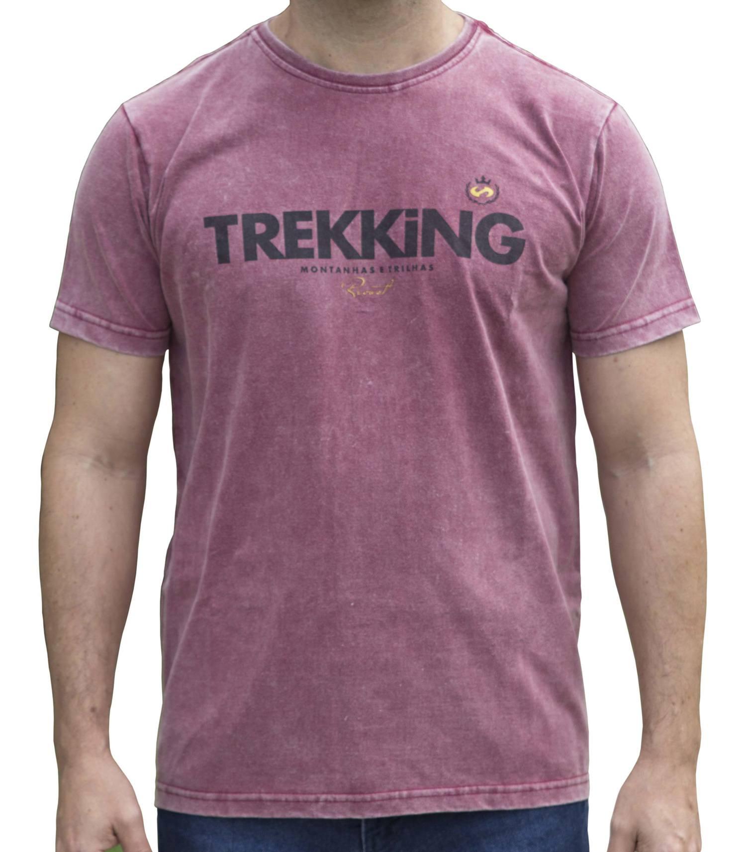 Camiseta Masculina Revost Estonada - Bordô