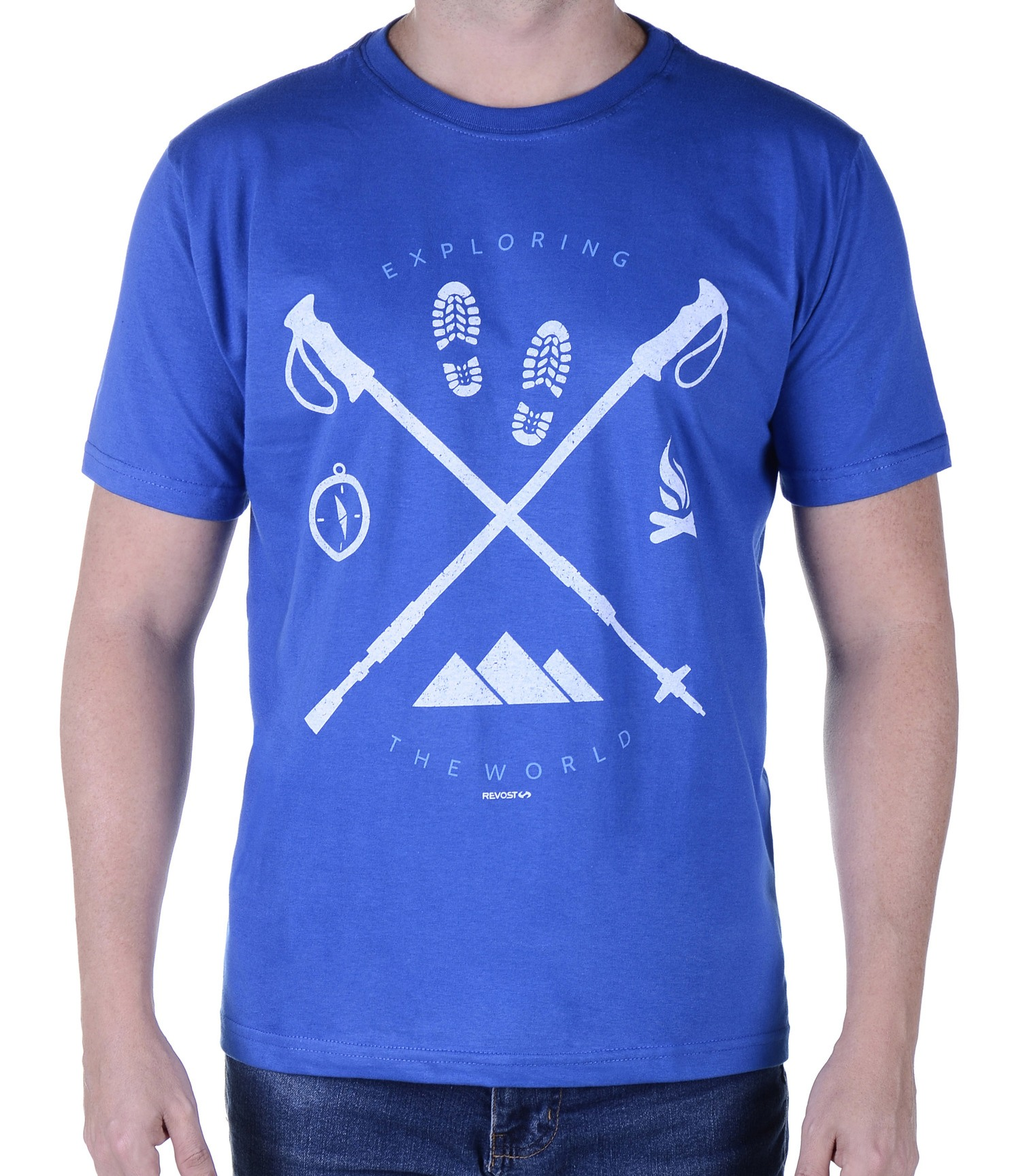 Camiseta Masculina Revost Exploring - Azul