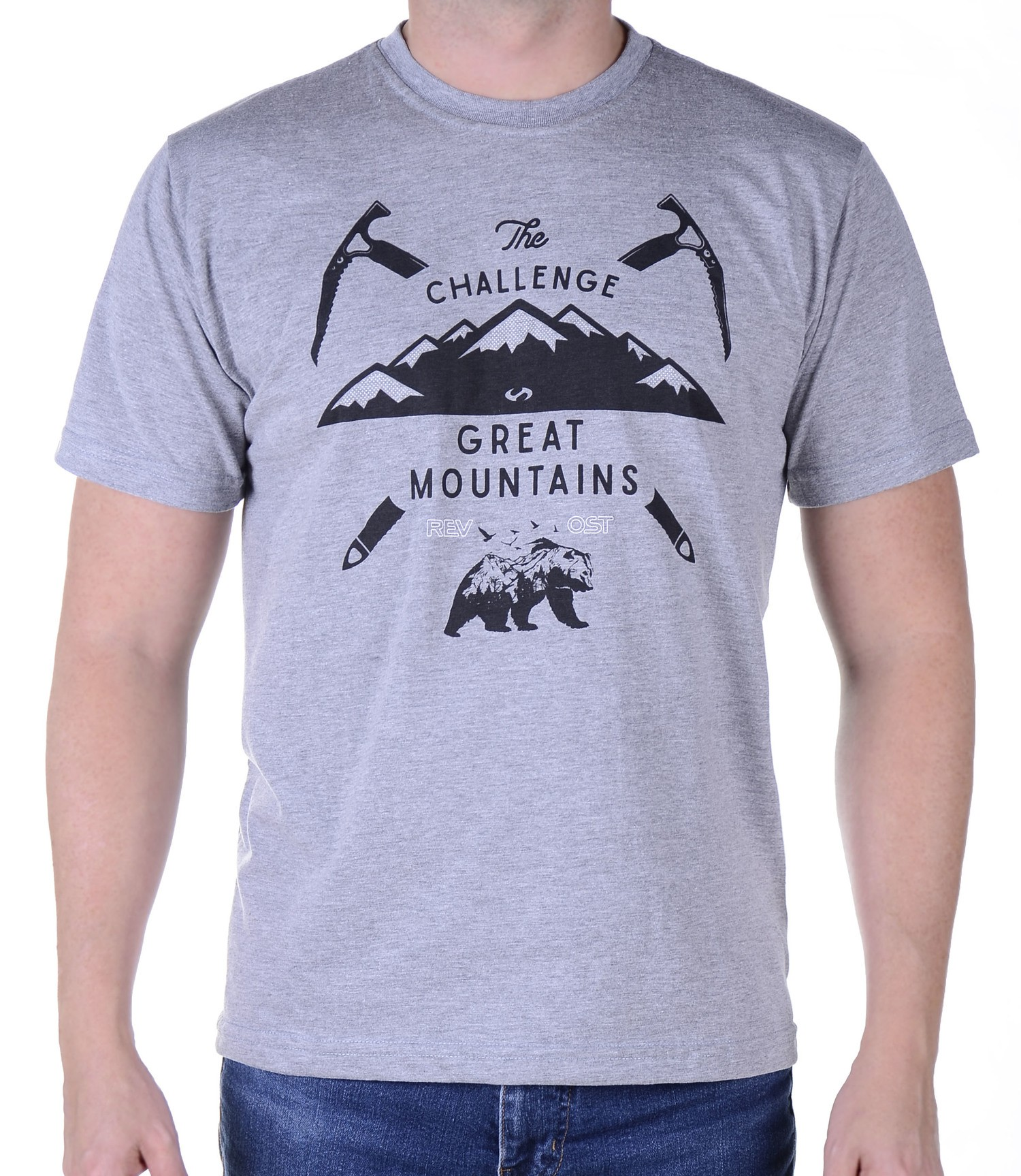 Camiseta Masculina Revost Mountains - Mescla