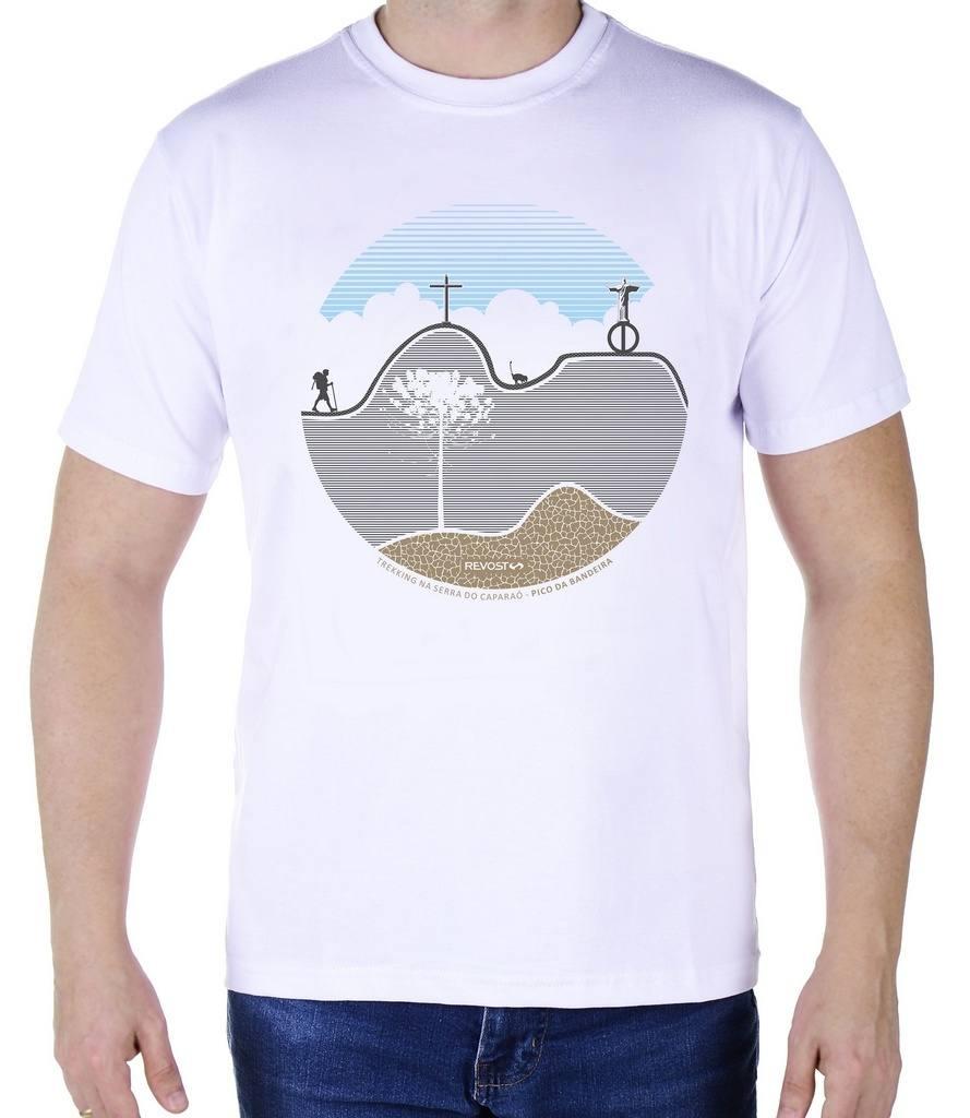 Camiseta Masculina Revost Pico da Bandeira - Branco