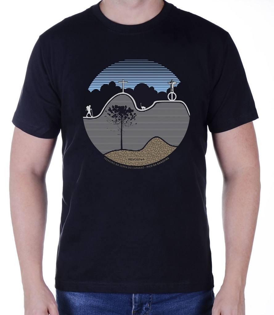 Camiseta Masculina Revost Pico da Bandeira - Preto