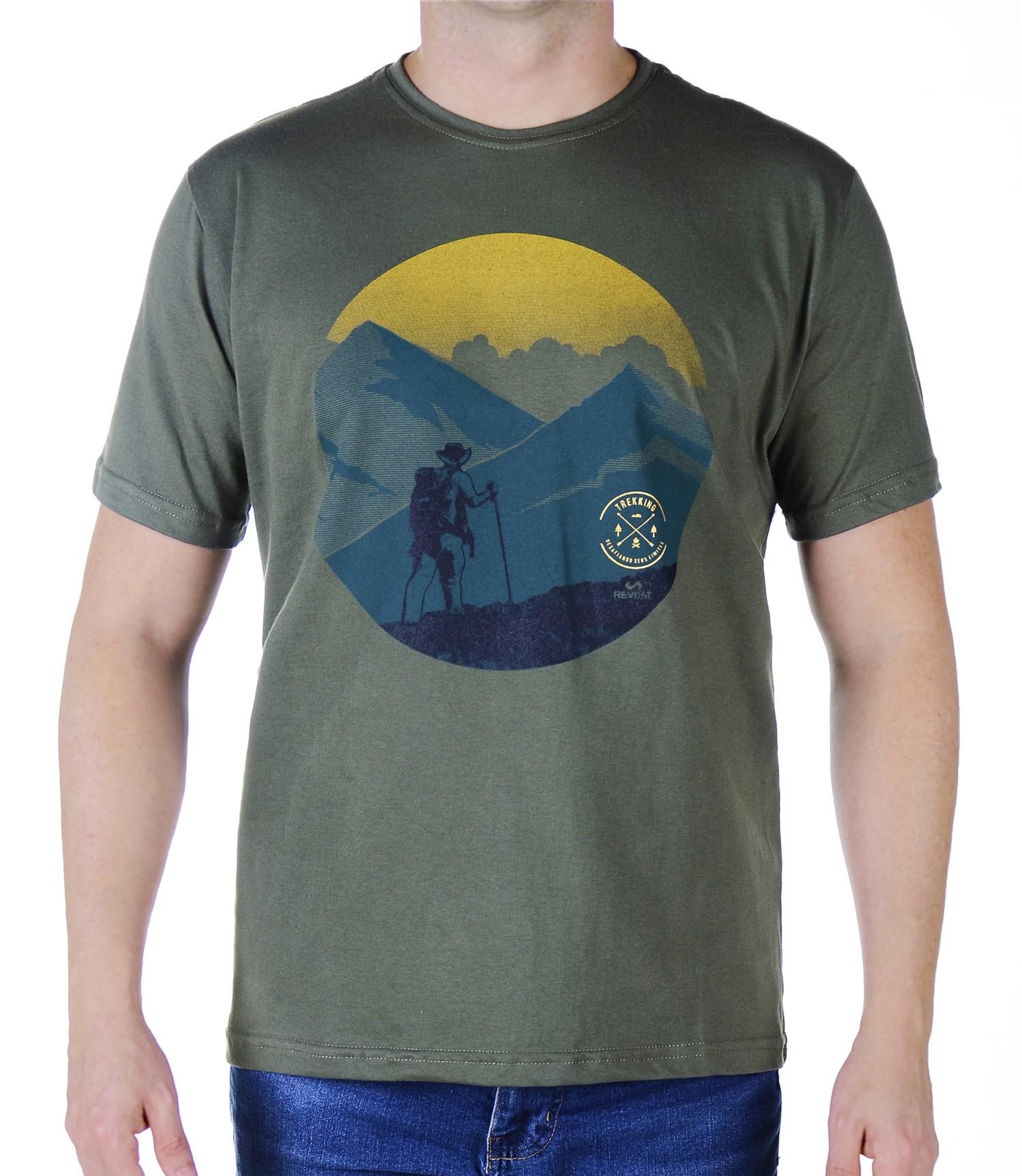 Camiseta Masculina Revost Trekking - Verde musgo