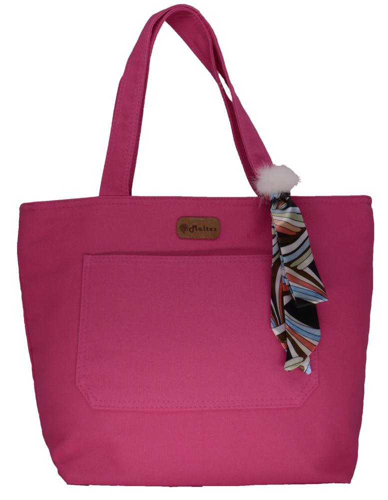 Bolsa Lulu Pink com Lenço-pompom