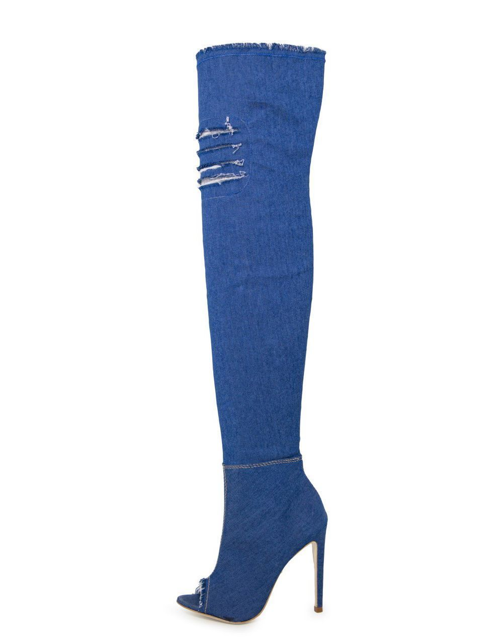 Bota Open boot Bellagio Over The Knee Jeans Azul