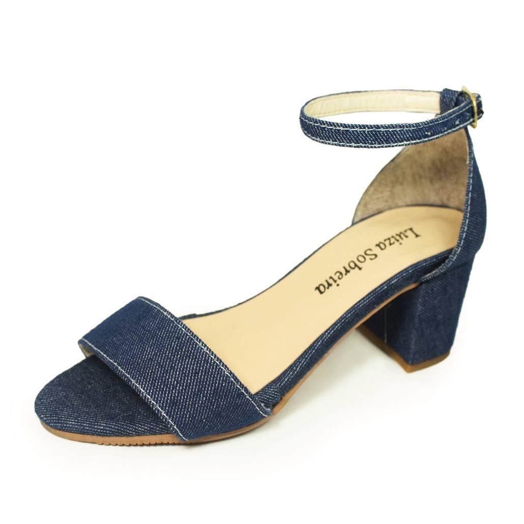 Sandália Salto Grosso Luiza Sobreira Jeans Mod. 4076