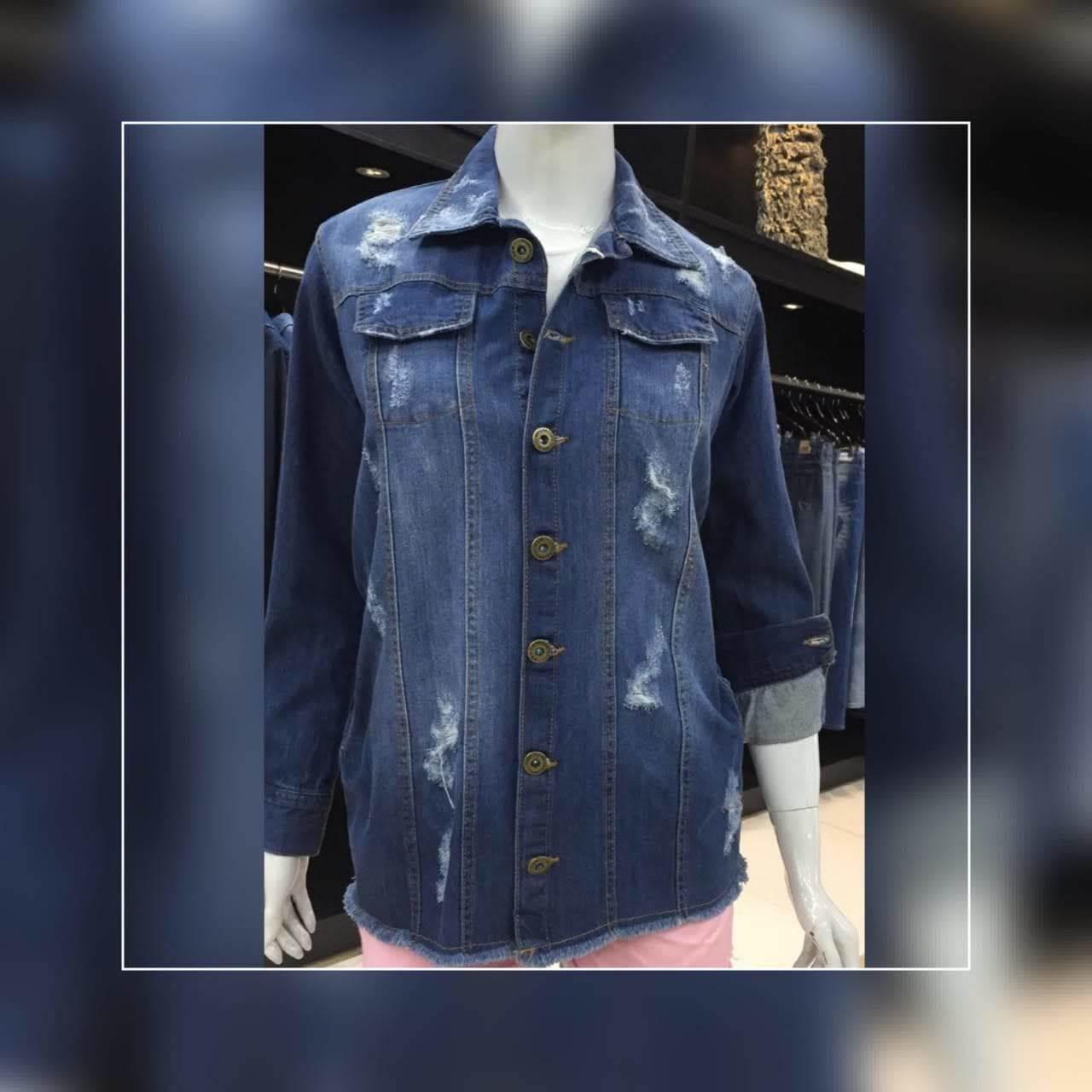 Jaqueta Jeans Longa Feminina (7004)