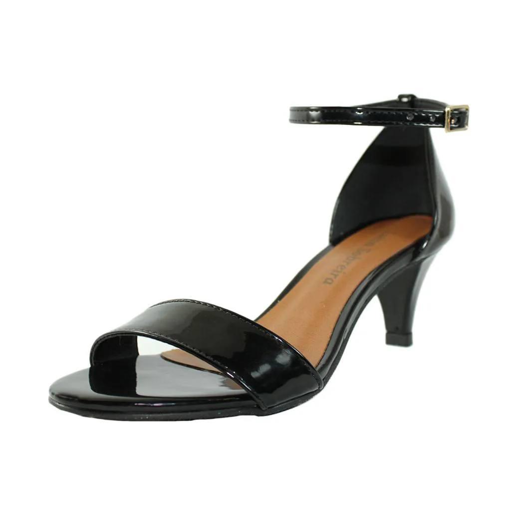 Sandália Salto Fino Luiza Sobreira Verniz Preto Mod. 4065