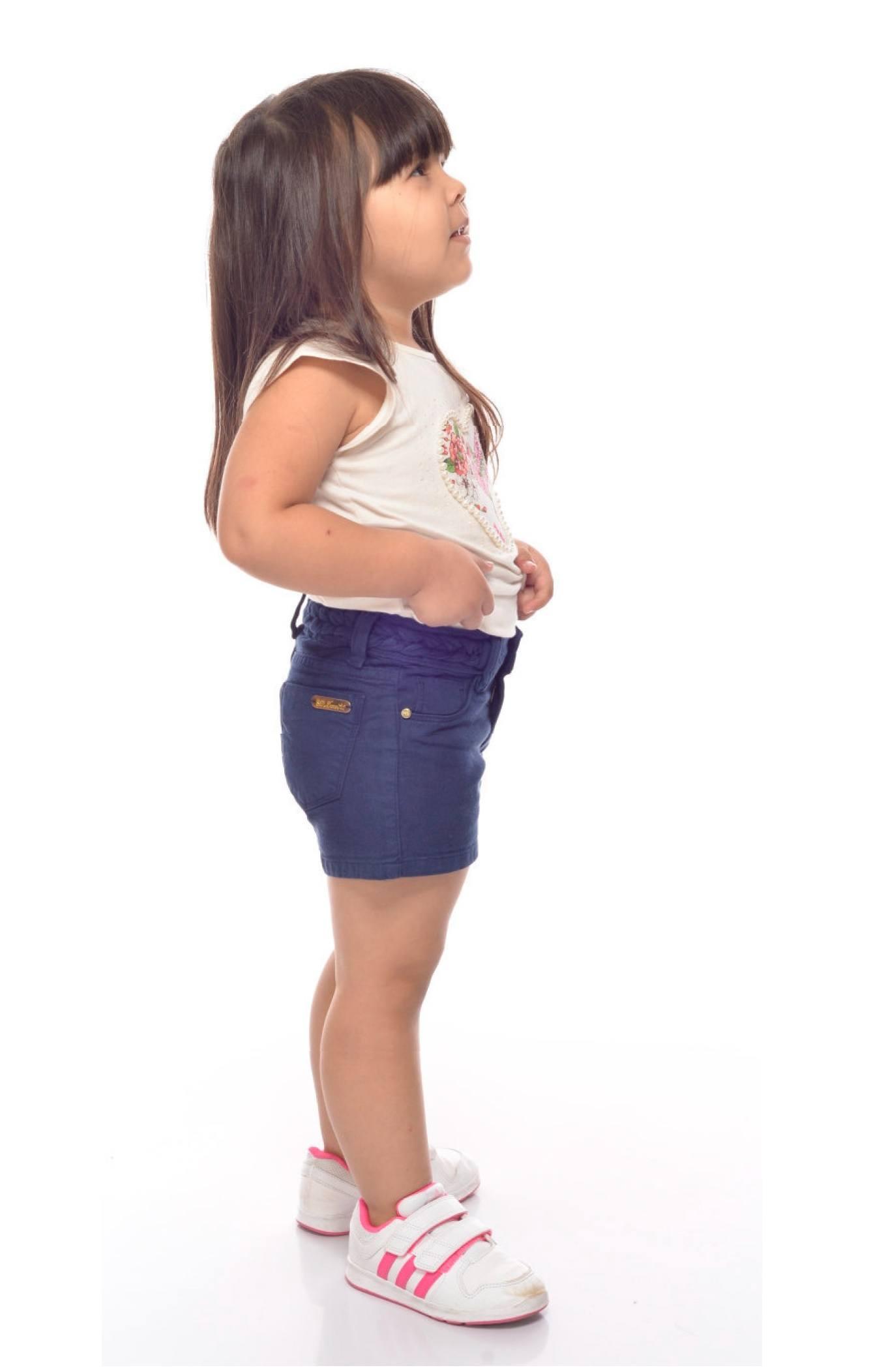 Short Jeans Infantil Feminino  Trança na Cintura [877]