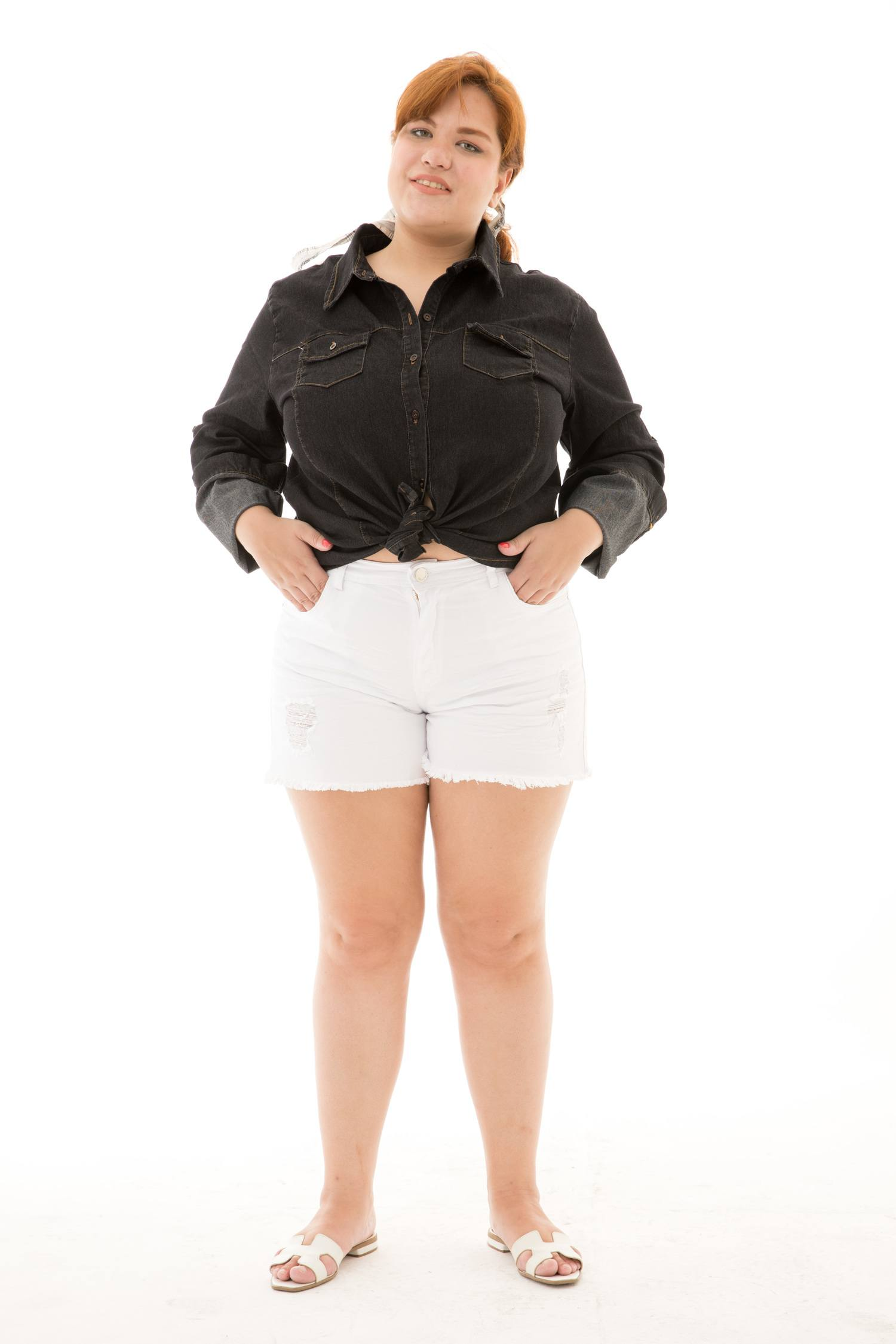 Shorts Sarja Plus Size [20303]