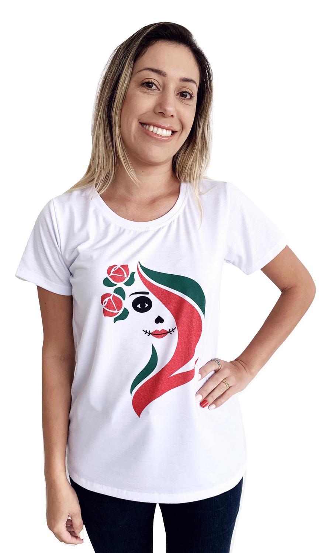 T-SHIRT FEMININA LA CATRINA COLORIDA