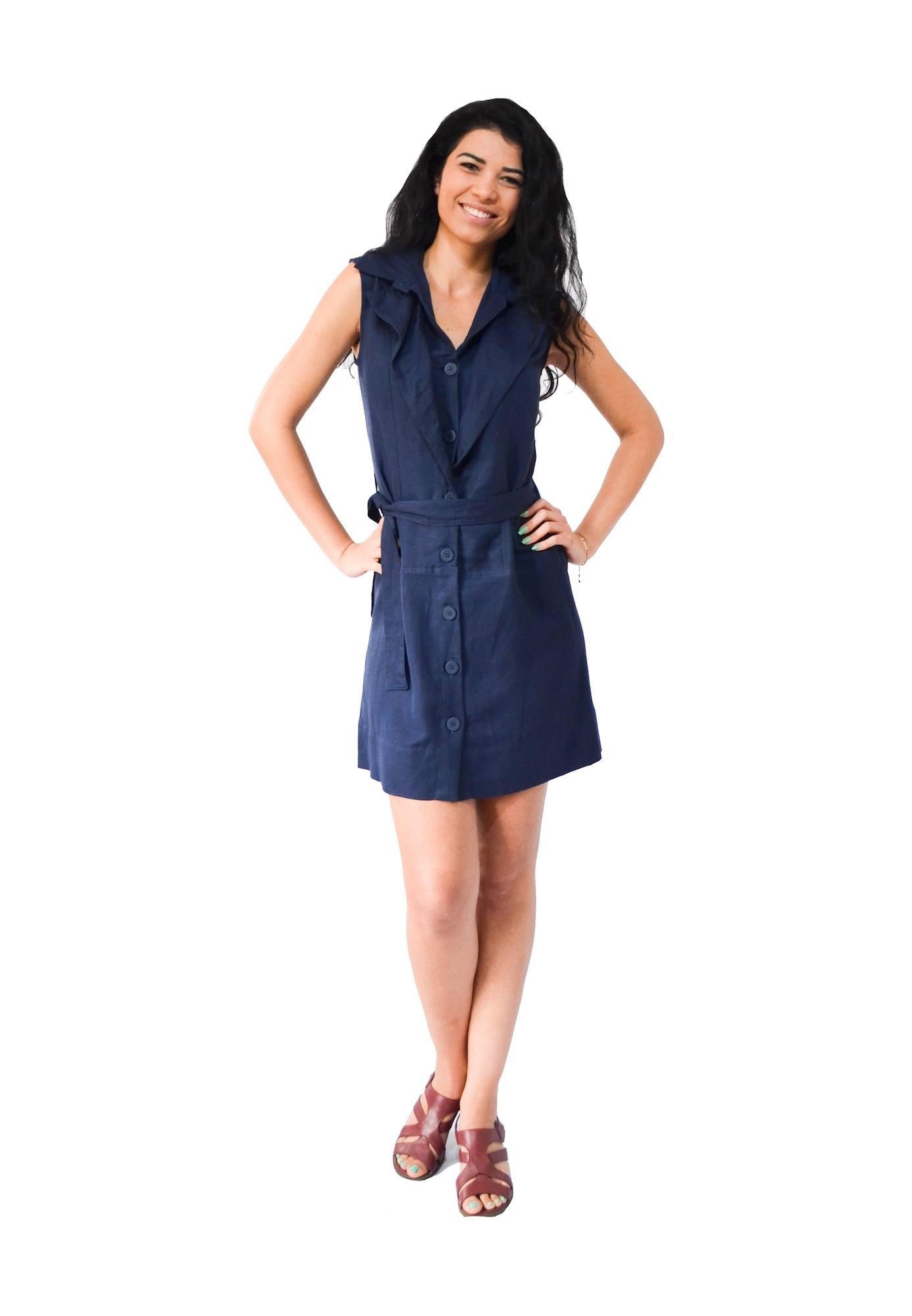 Vestido Agavé Azul Bluni