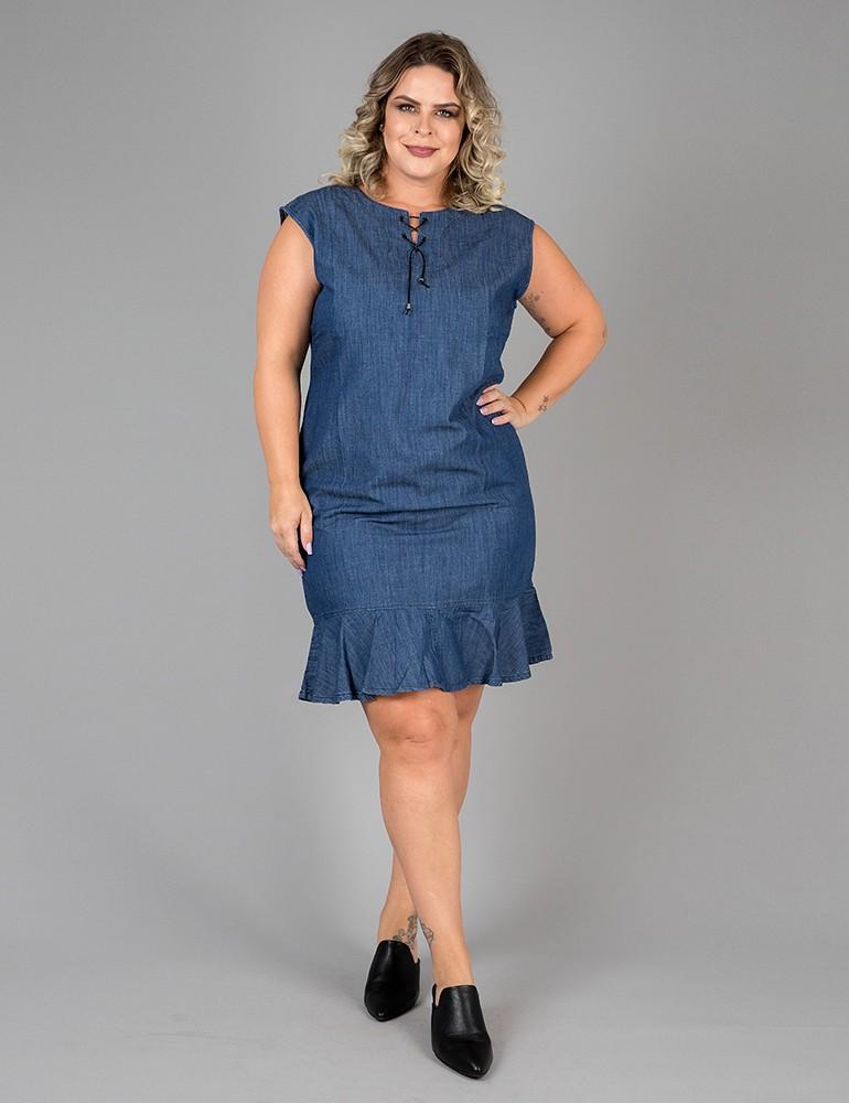 Vestido Jeans - Plus Size Ref. 04098