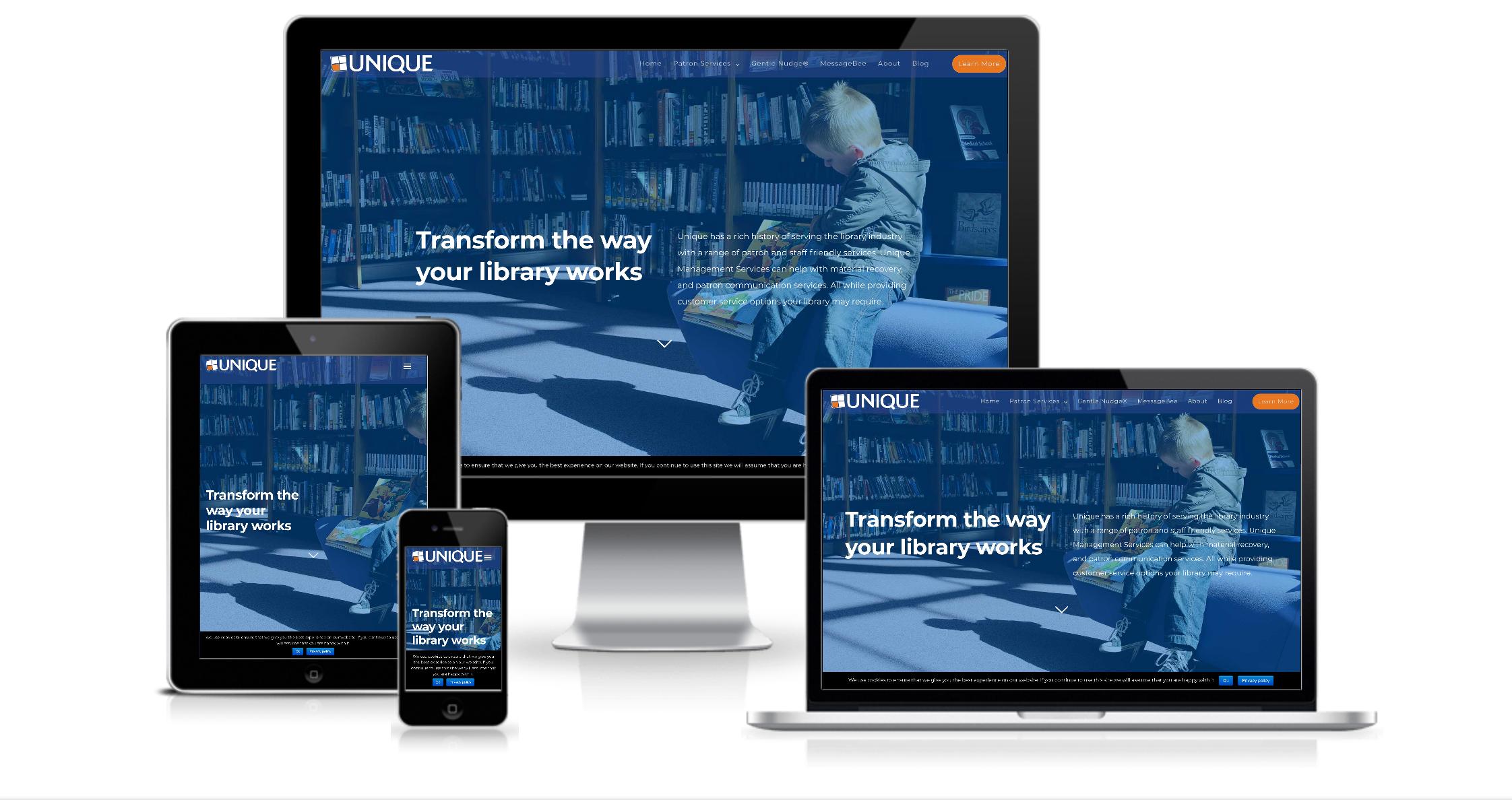 Unique Library Website Design