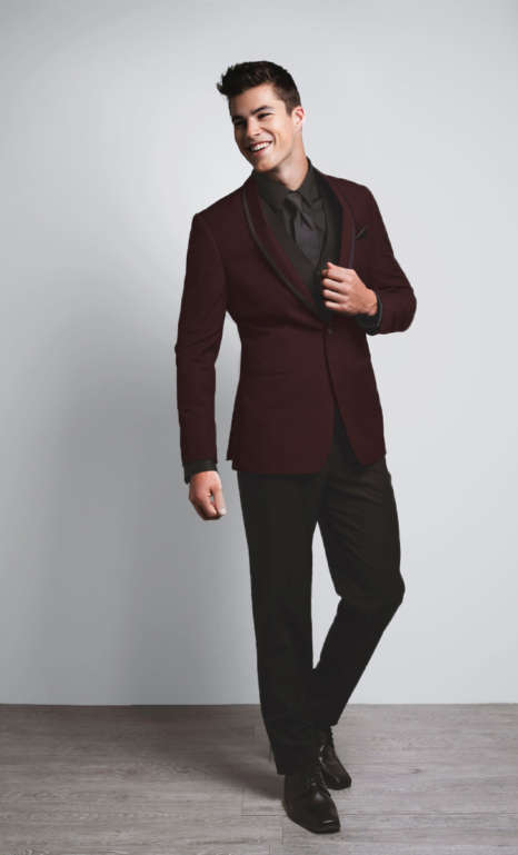 Johnny Wilde Burgundy Tux