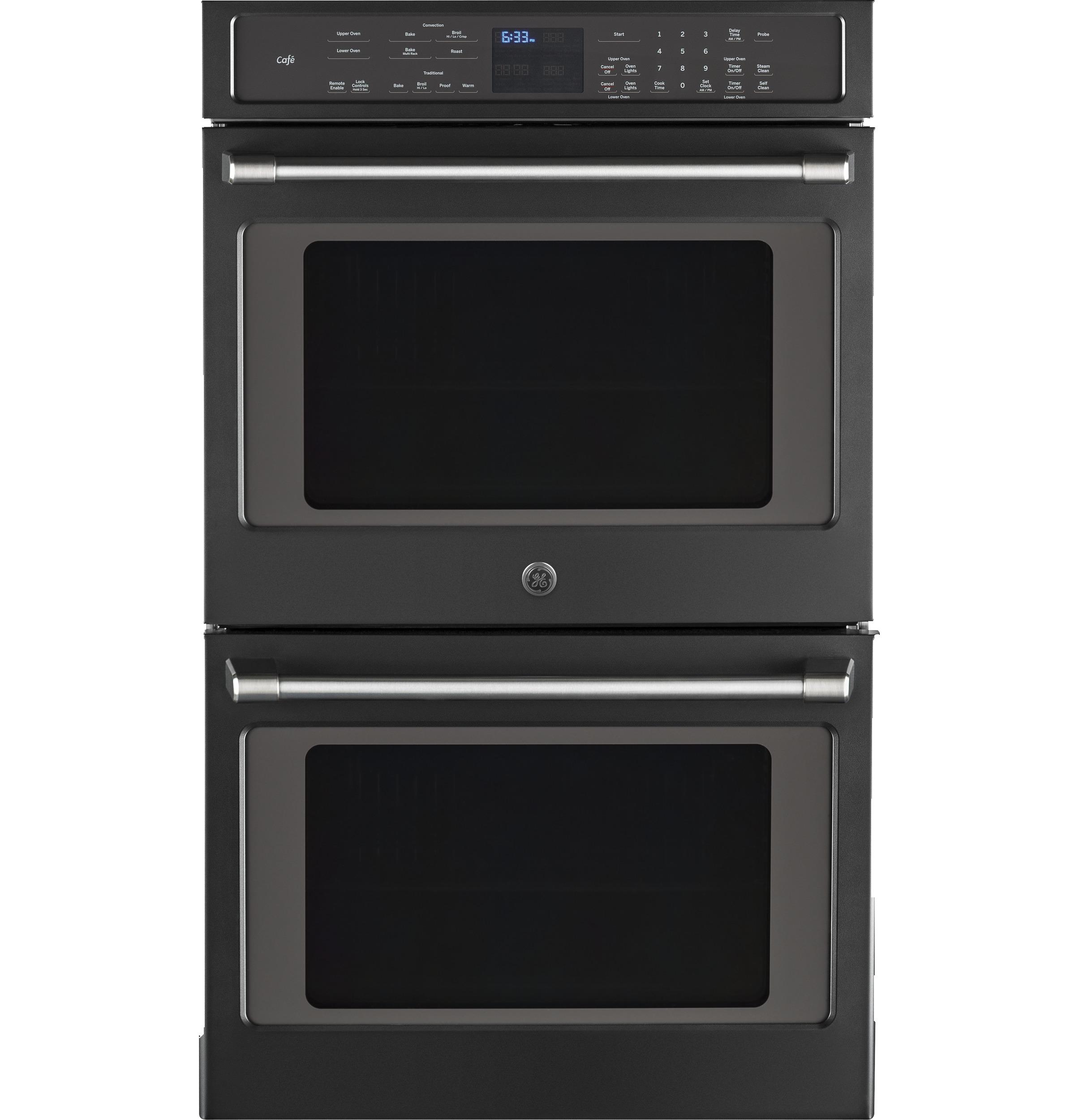 black slate double wall oven