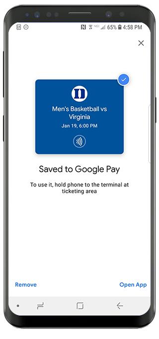 Mobile Wallet Tickets FAQ - Duke University Blue Devils
