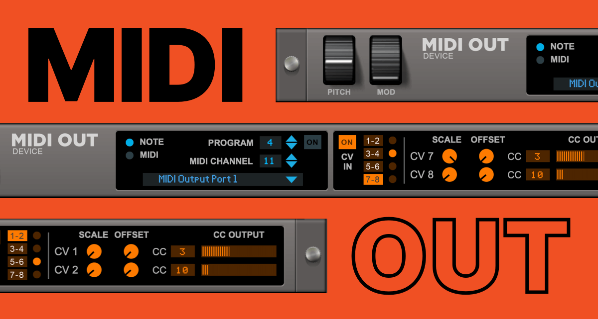 MIDI out in Reason Rack Plugin