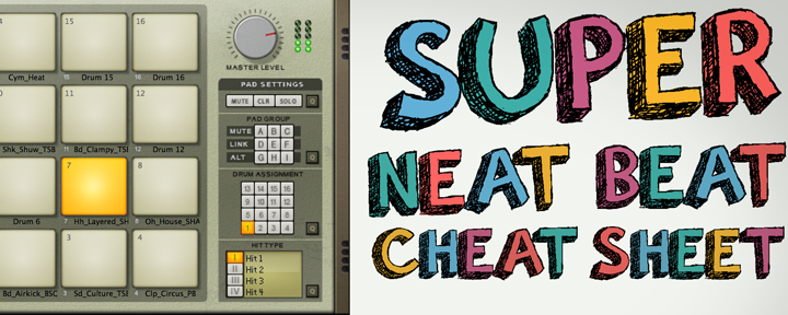 Trip Hop Drums: Super Neat Beat Cheat Sheet