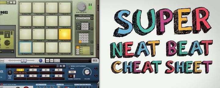 Deep House Drum Basics: Super Neat Beat Cheat Sheet