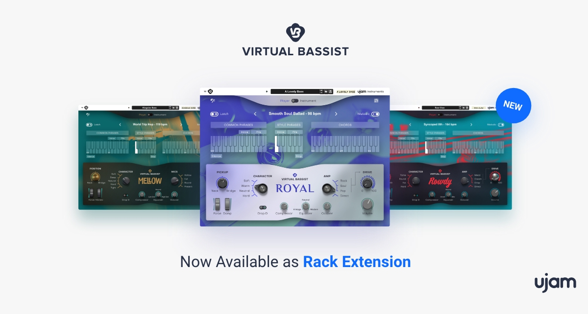 Virtual Bassist by UJAM comes to Reason