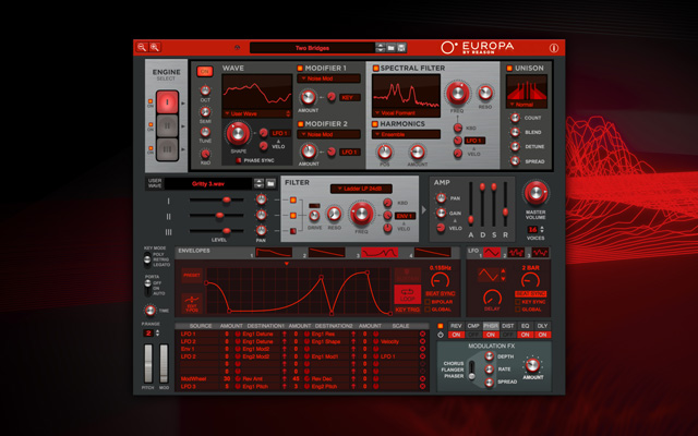 Reason's Flagship Europa Synth Now Available as a Plugin for Other DAWs and on the Web