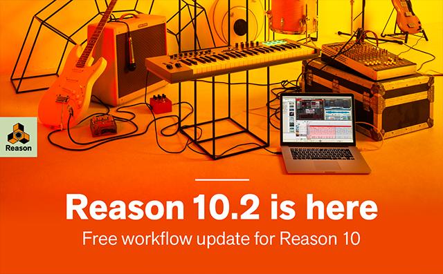 Propellerhead Releases Free Reason 10.2 Update
