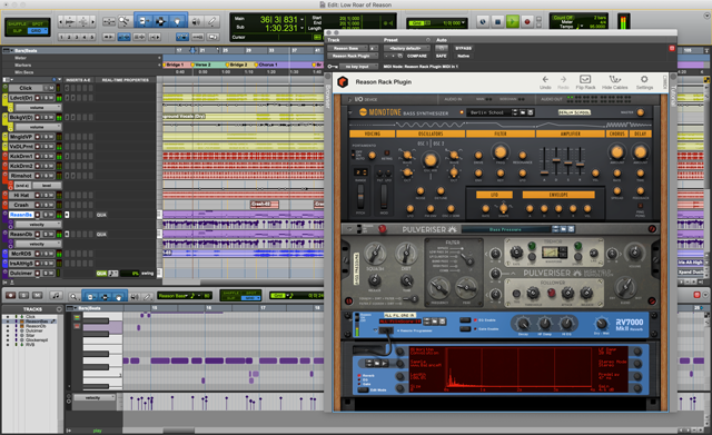 Reason Studios adds plugin support for Avid Pro Tools