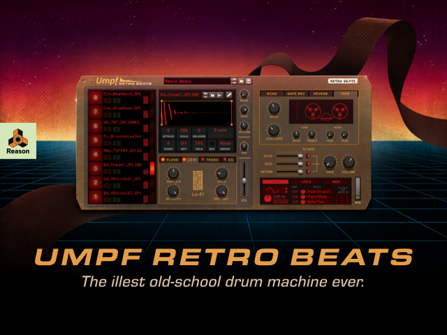 Propellerhead Releases Umpf Retro Beats Rack Extension for Reason