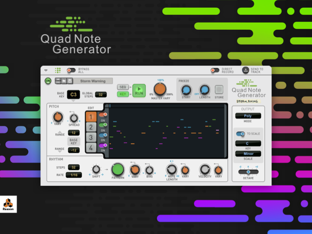 Propellerhead Releases Quad Note Generator Rack Extension for Reason