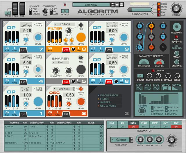 Algoritm screenshot front