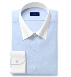 DJA Sea Island Light Blue End-on-End Fitted Shirt